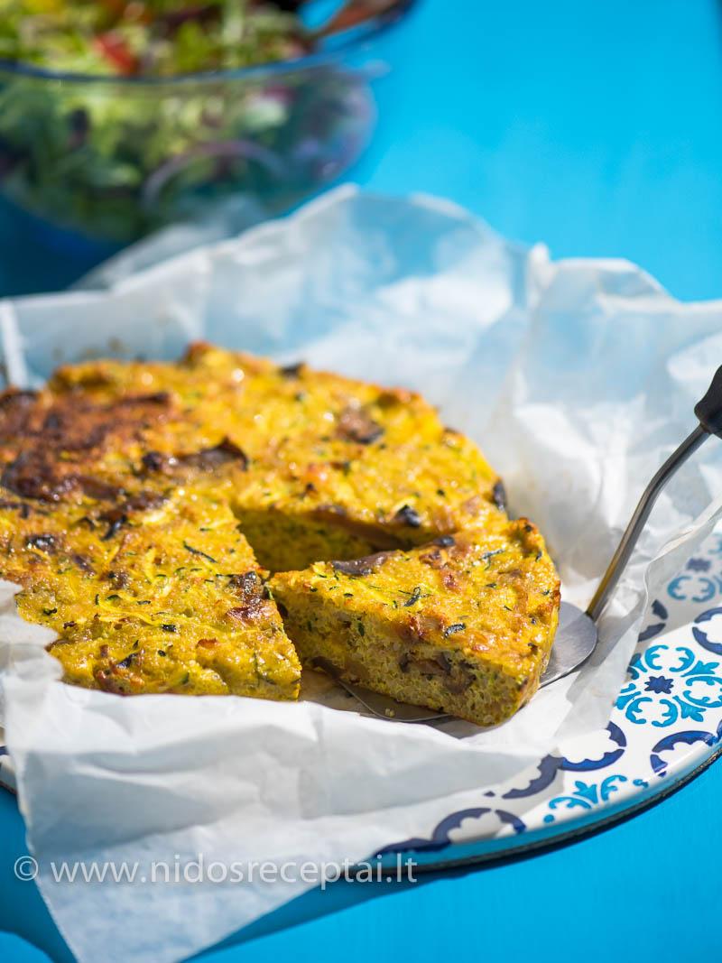 Cukinijų ir kynva kruopų fritata - puikus pasirinkimas pusryčiams ar lengviems pietums