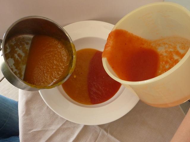 skirtingu spalvu sriuba