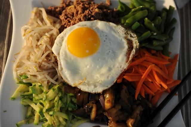 bibimbap korejietiskas patiekalas