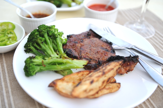 korejietiskam marinate marinuota mesa
