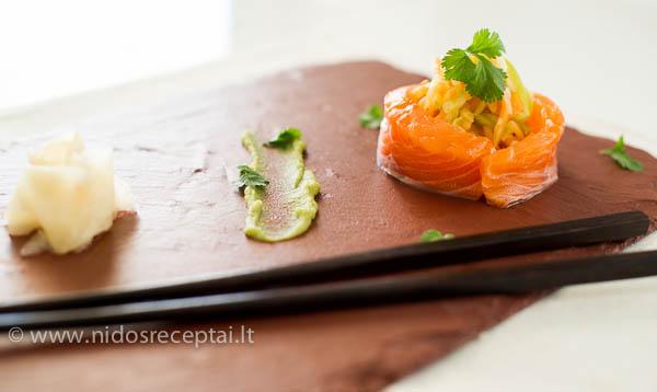 lasisos sashimi su wasabi valentino diena