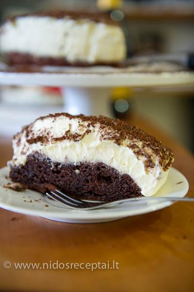 juodo ir balto sokolado tortas
