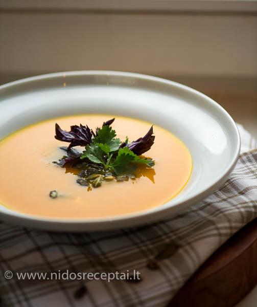 Moliugu sriuba su kokosais ir imbieru