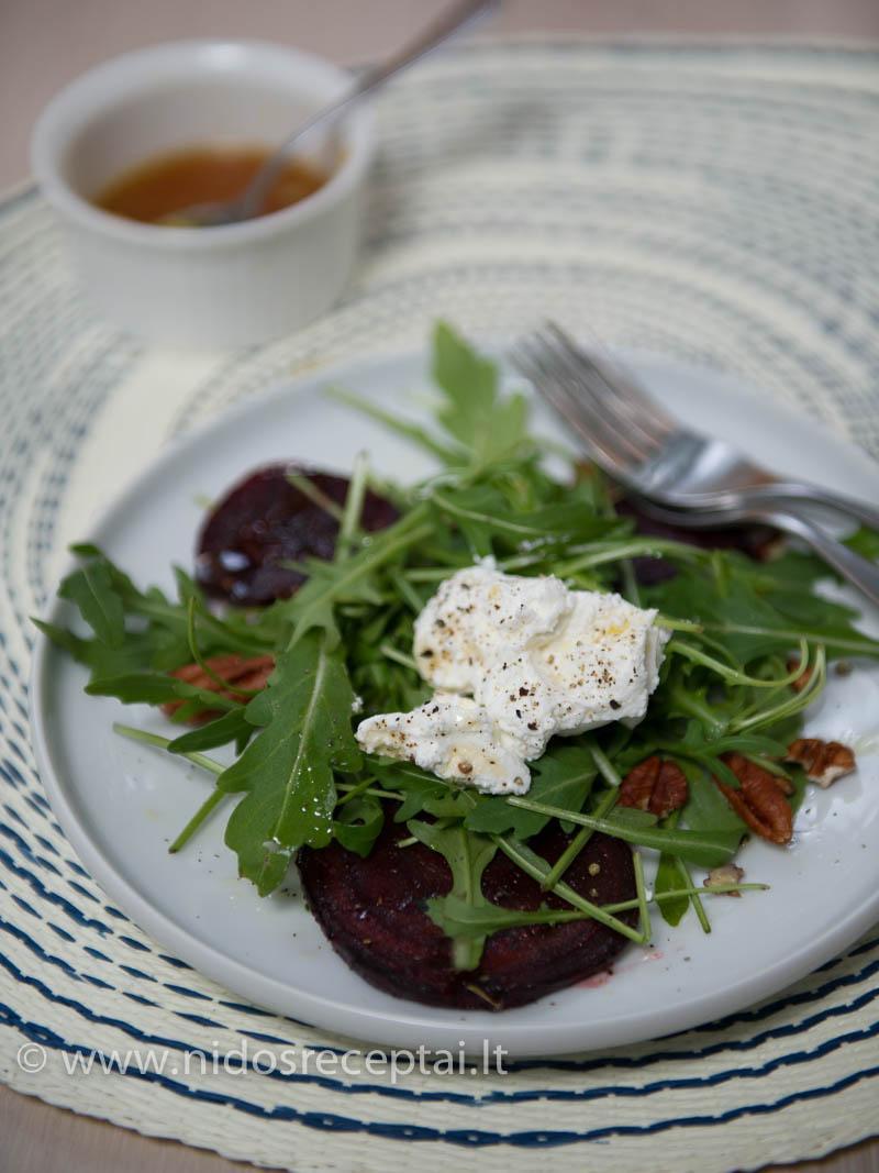 Keptų borokėlių salotos