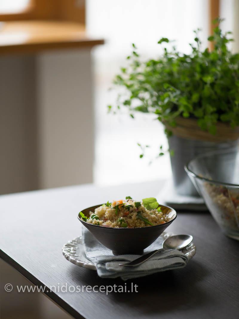 Salotos su bolivinėm balandom - ir sveika, ir skanu, ir gražu
