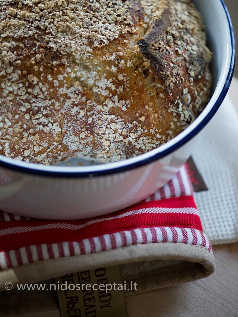 Puode kepamos duonos nereikia minkyti