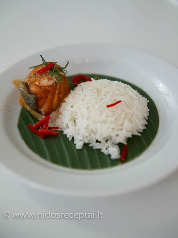 Lašišos curry