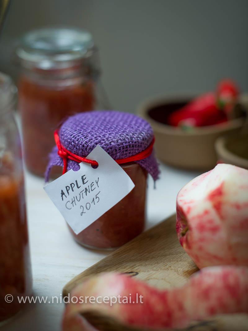Obuolių čatnis gali būti skani dovana švenčių proga, ar miela lauktuvė