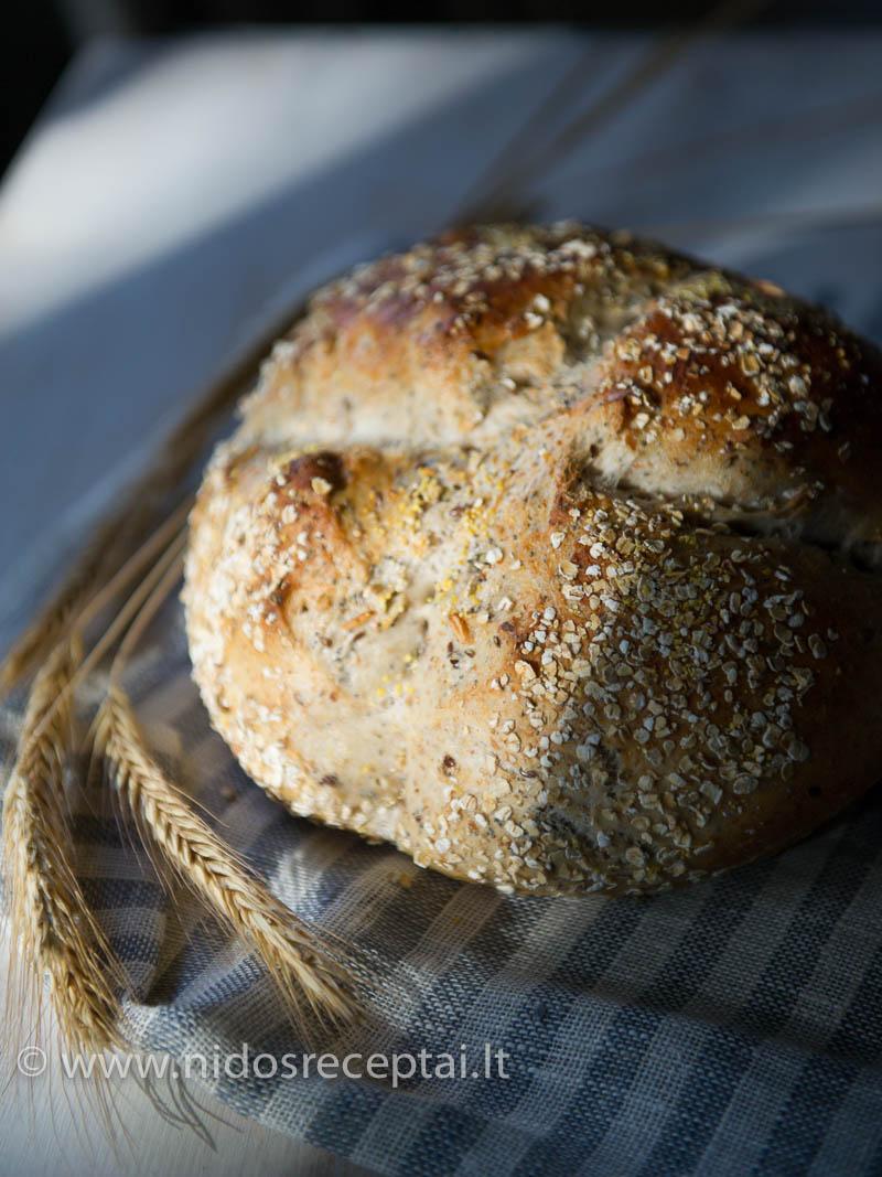 Duona su grūdais - pagal David Lebovitz receptą