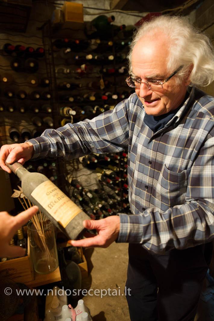 Thierry kolekcijoje vynai, kuriems ne viena dešimtis metų...
