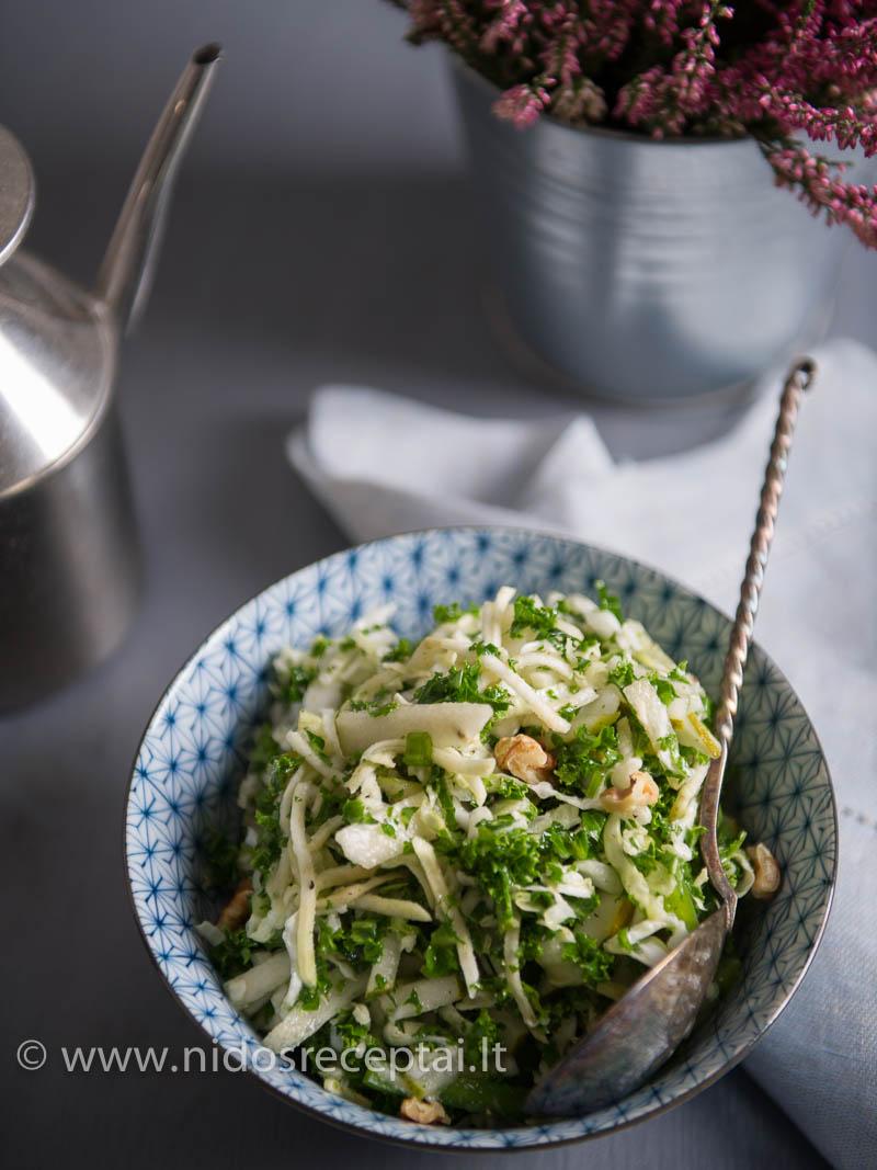 Traškios salotos su saldžiarūgščiu padažu