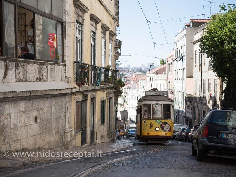 Tikras Lisabonos simbolis - senasis tramvajus Nr. 28
