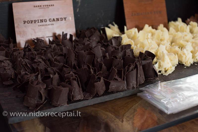 šokolado drožlės